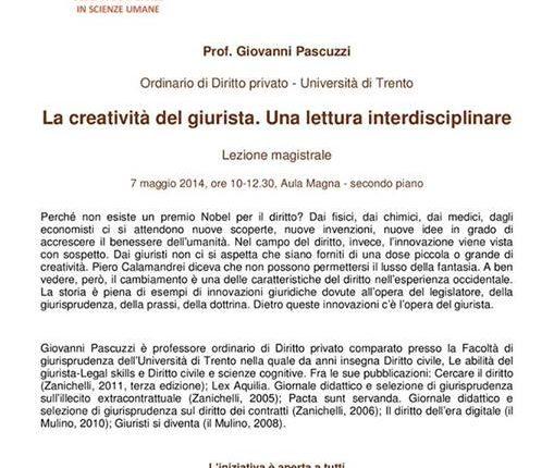 La Creatività Del Giurista, Una Lettura Interdiciplinare