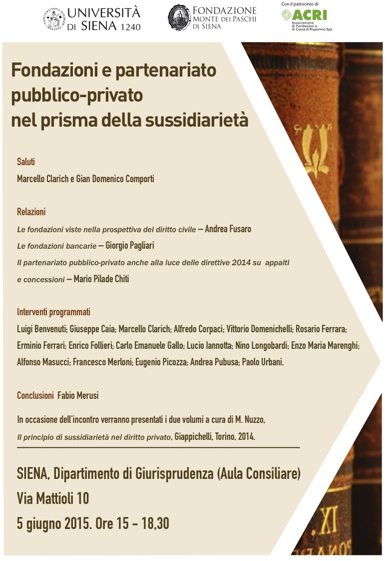 Fondazioni e partenariato pubblico-privato nel prisma della sussidiarieta