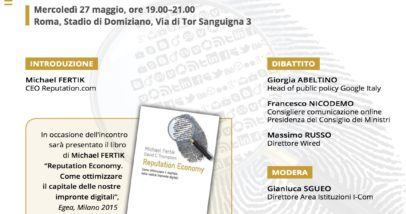Programma I-Book - The Reputation Economy - 27 Maggio, Roma