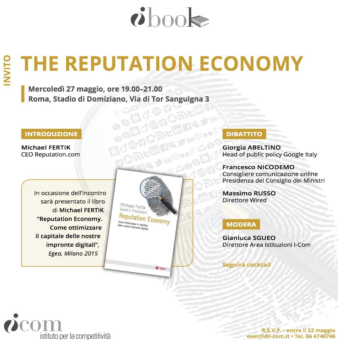 Programma I-Book - The reputation Economy - 27 maggio, Roma