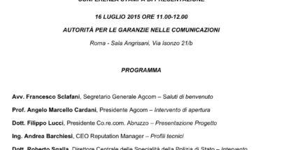 Programma 16 Luglio 2015
