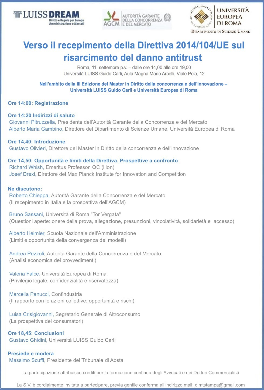 Locandina Convegno 11 settembre 2015