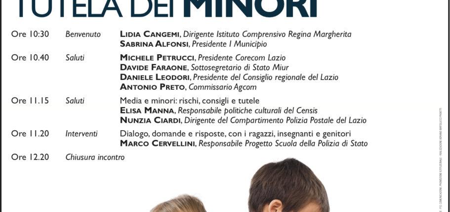 CORECOM MEDIA E MINORI CONVEGNO 21 OTTOBRE 2015 REGINA MARGHERITA_LOCANDINA