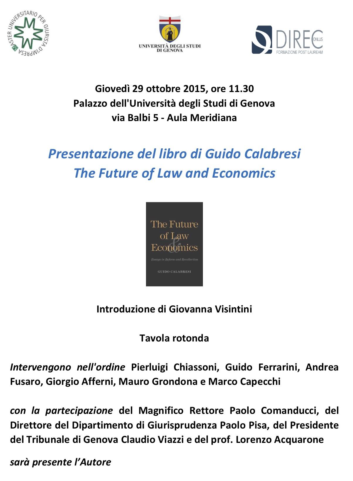 Invito a presentazione libro di Guido Calabresi
