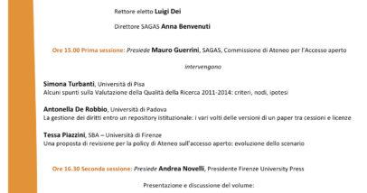 Open Access Firenze 21 Ottobre 2015