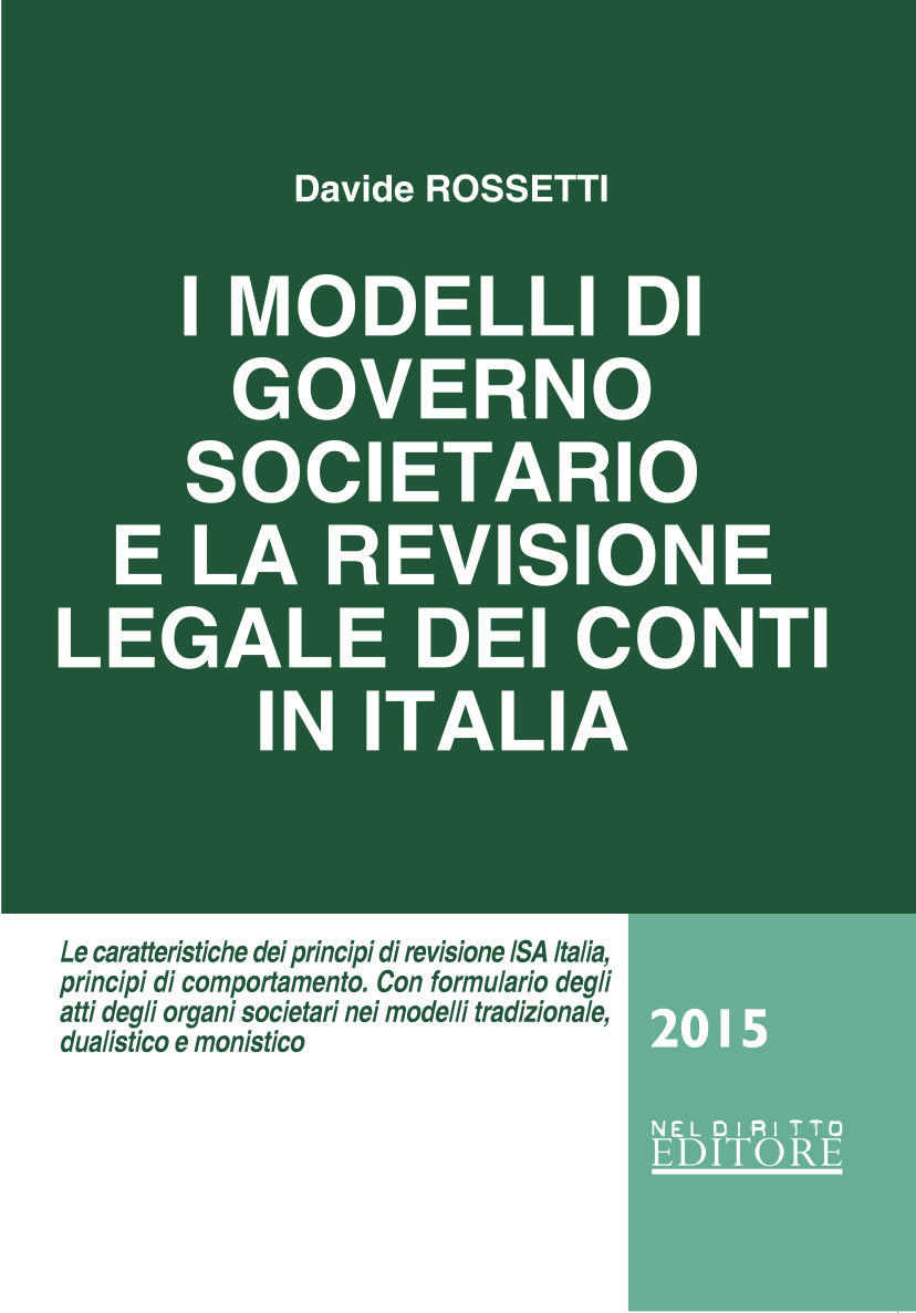 Copertina I modelli del governo societario e la revisione legale dei conti in Italia