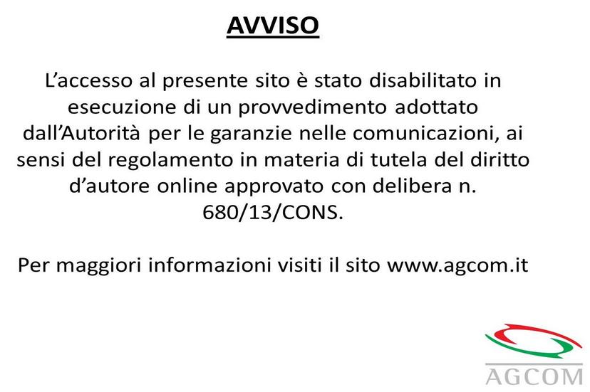 Avviso Agcom