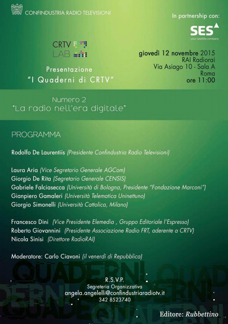 La radio nell'era digitale - Roma, 12 novembre 2015