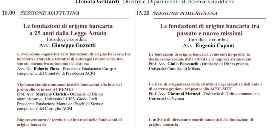 Le Fondazioni Di Origine Bancaria Venticinque Anni Dopo - Verona, 6 Novembre 2015