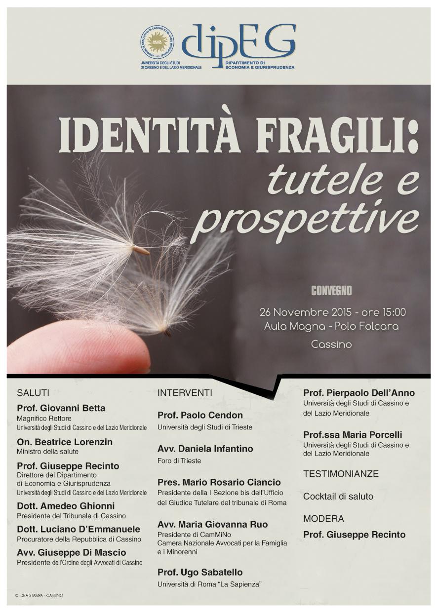 Identità fragili - Cassino, 26 novembre 2015