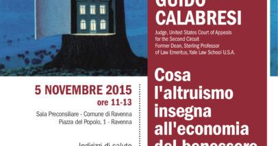 Lectio Magistralis Guido Calabresi 5 Novembre