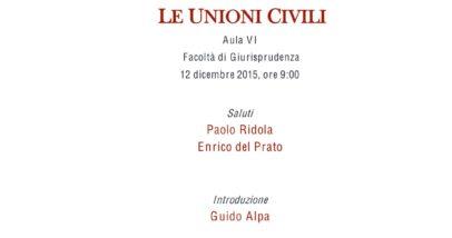 Le Unioni Civili - Roma, 12 Dicembre 2015