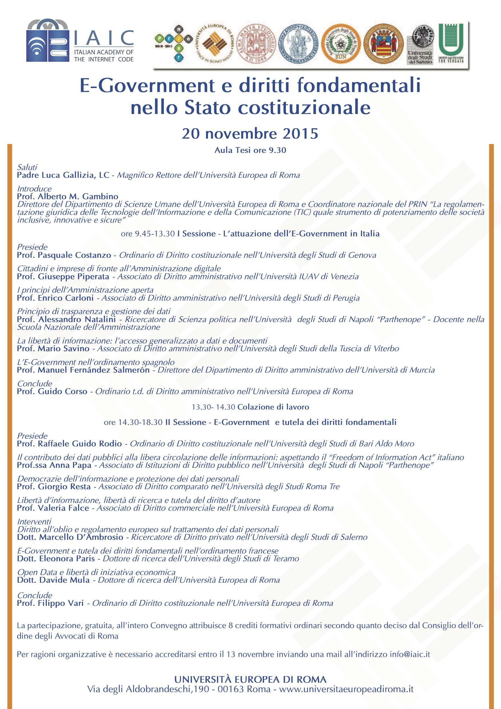 E-Government e diritti fondamentali nello Stato costituzionale