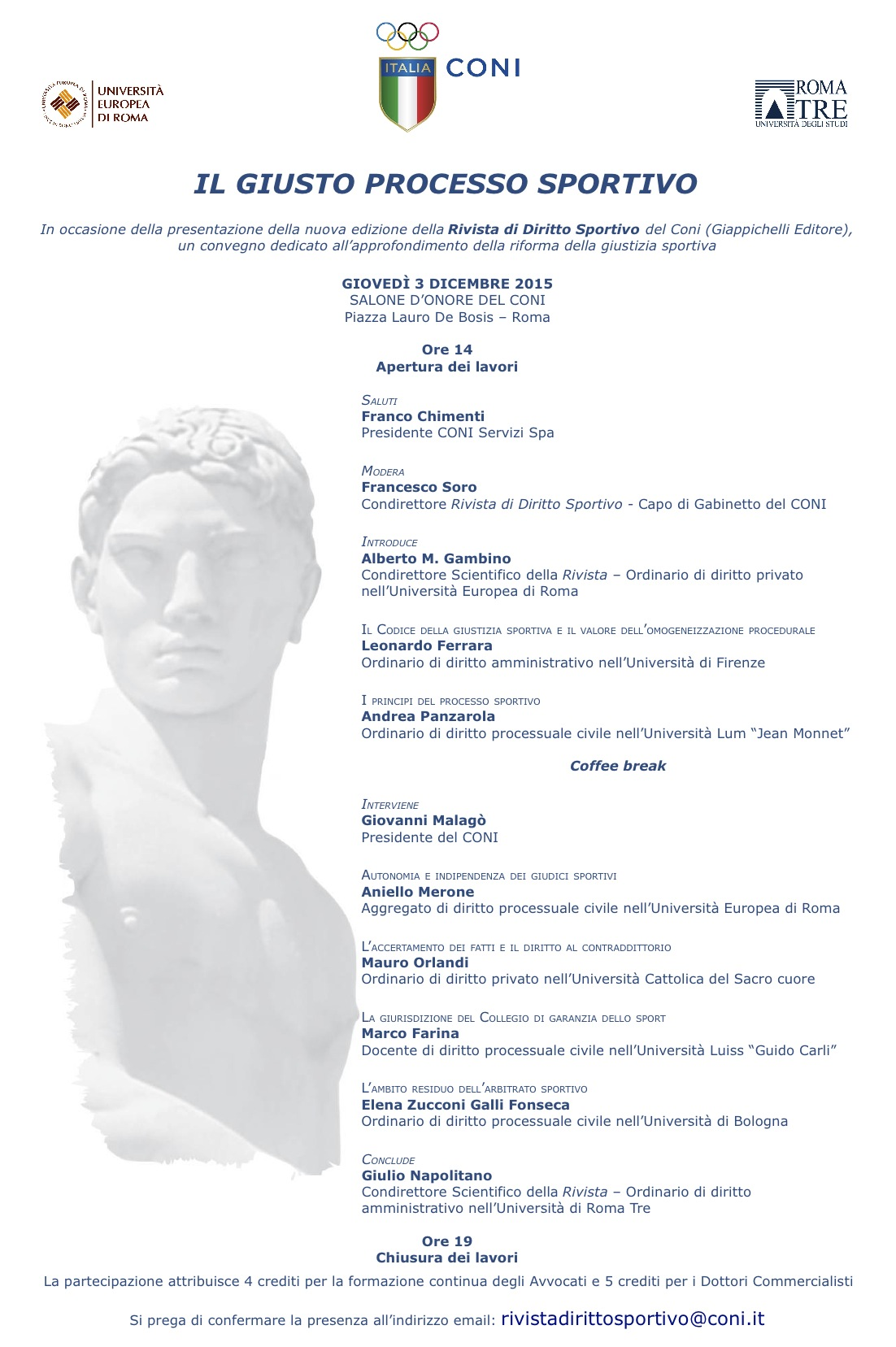 Locandina Convegno 3 dicembre 2015